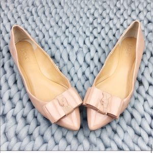 J. Crew Women's Nude Bow Ermey Pointed toe Flats